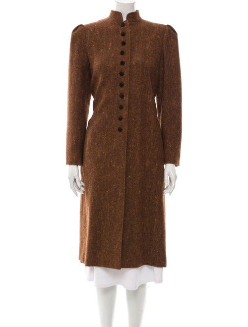 Valentino Vintage Structured Longline Coat Brown