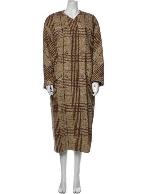 Valentino Vintage Plaid Print Coat