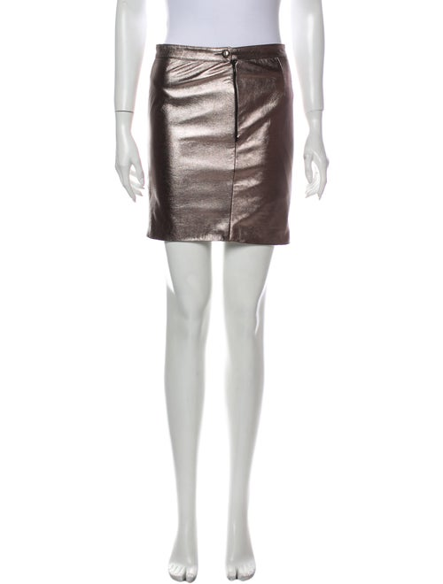 Valentino Mini Skirt Metallic