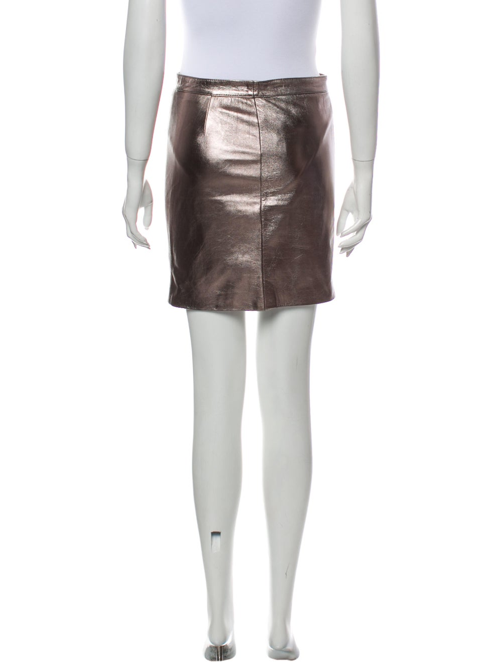Valentino Mini Skirt Metallic - image 3