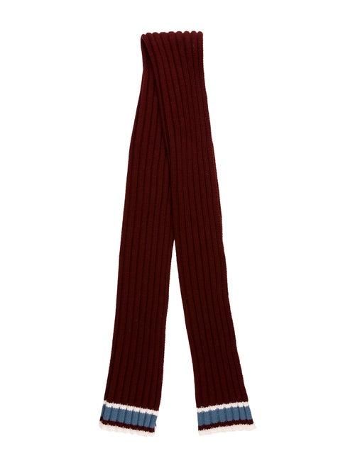 Valentino Wool Knit Scarf white