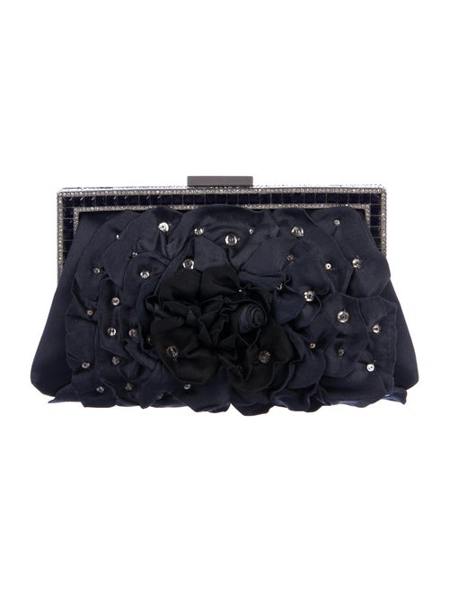 Valentino Embellished Satin Evening Bag Blue