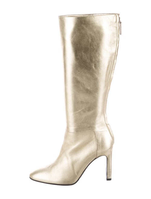 Valentino Leather Boots Gold
