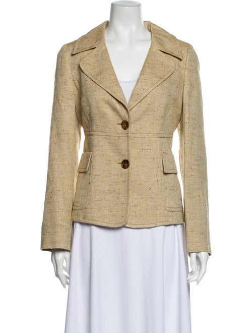 Valentino Tweed Pattern Blazer