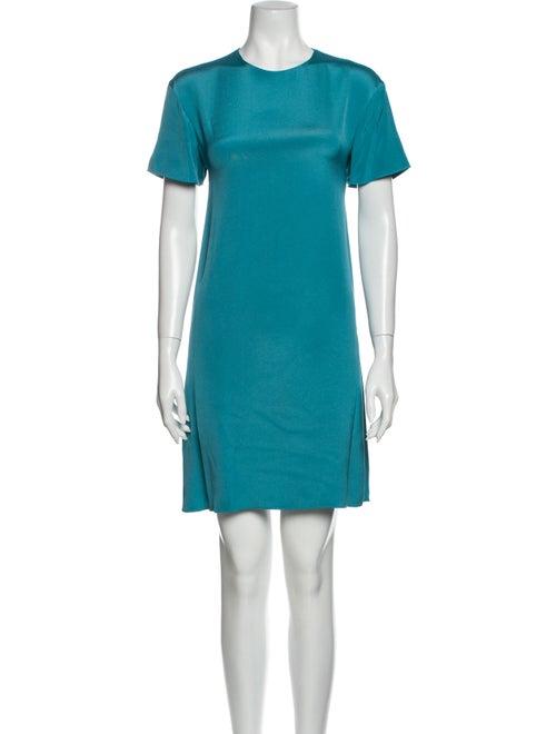Valentino Silk Mini Dress Blue