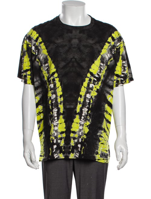 Valentino Tie-Dye Print Crew Neck T-Shirt Green