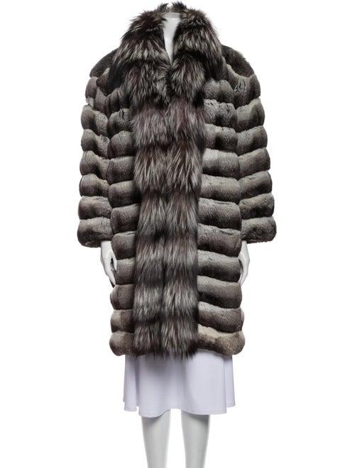 Valentino Vintage Chinchilla Fur Coat Grey