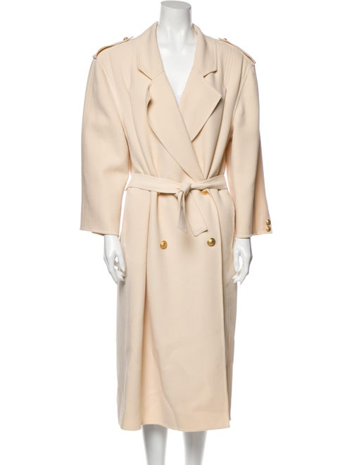 Valentino Vintage Wool Trench Coat Wool