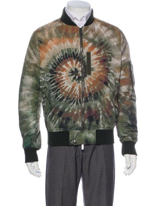 Valentino Tie-Dye Print Bomber Jacket Green