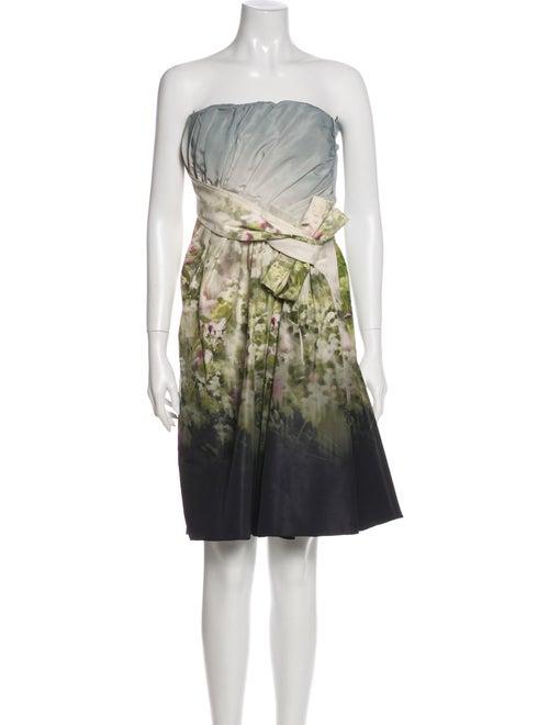 Valentino Silk Mini Dress Grey
