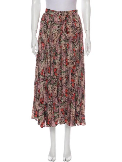 Valentino Silk Midi Length Skirt