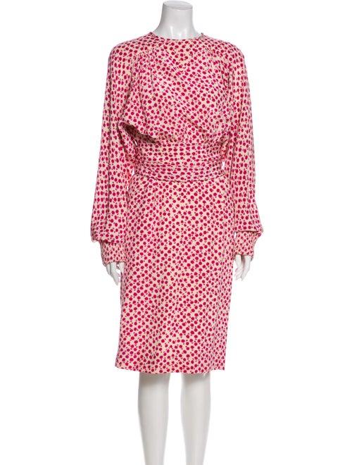 Valentino Floral Print Midi Length Dress