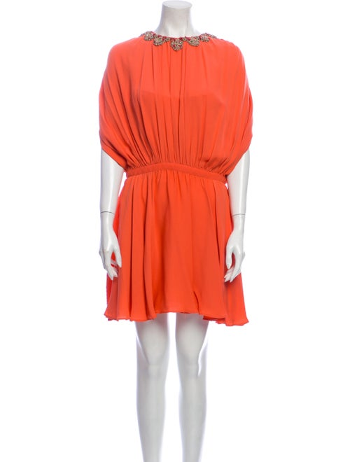 Valentino Silk Mini Dress Orange