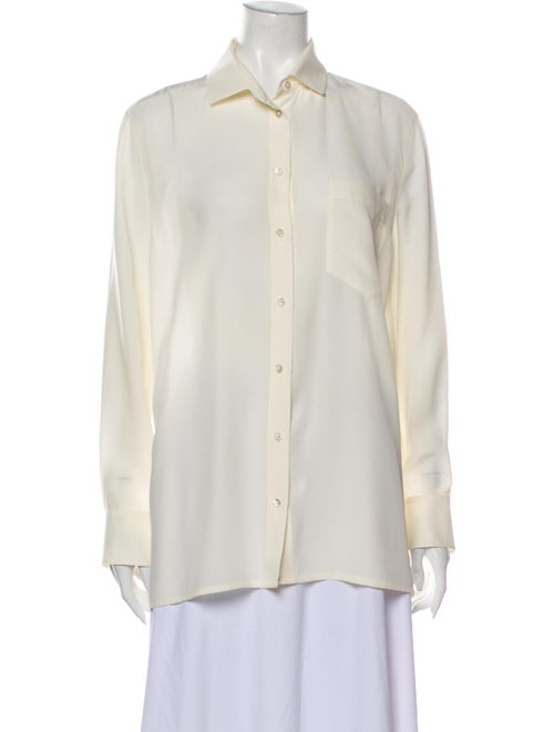 Valentino Long Sleeve Button-Up Top
