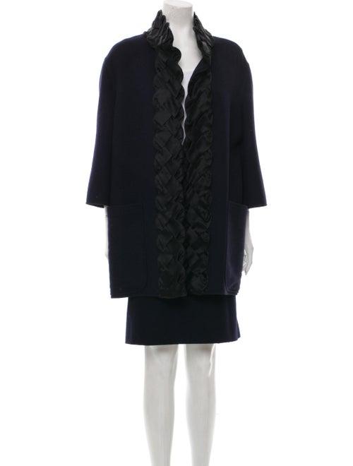 Valentino Virgin Wool Skirt Suit Wool