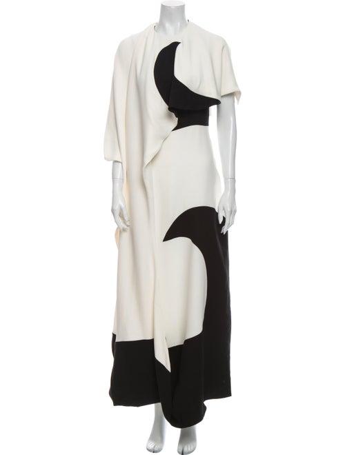 Valentino Silk Long Dress White