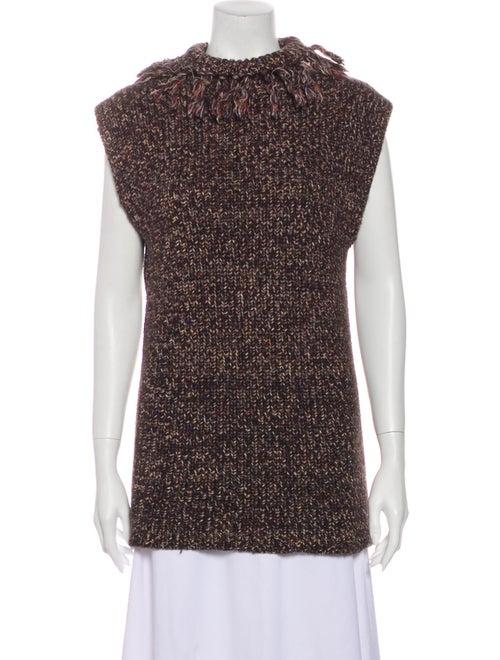 Valentino Mock Neck Sweater Brown