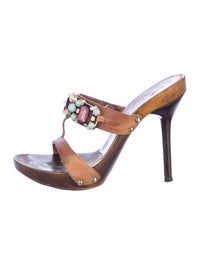 valentino sandals  shoes  val20300  the realreal