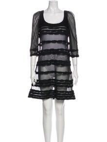 Valentino Striped Mini Dress