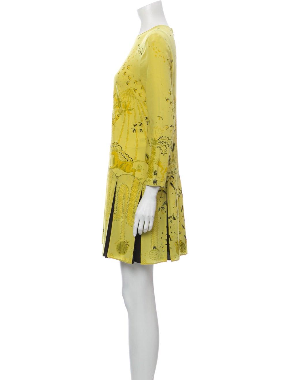 Valentino Silk Mini Dress Yellow - image 2