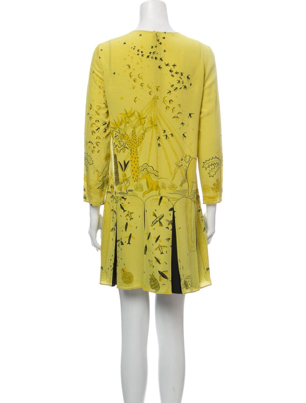Valentino Silk Mini Dress Yellow - image 3