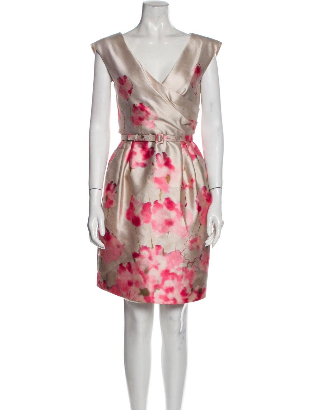 Valentino Silk Knee-Length Dress - image 1