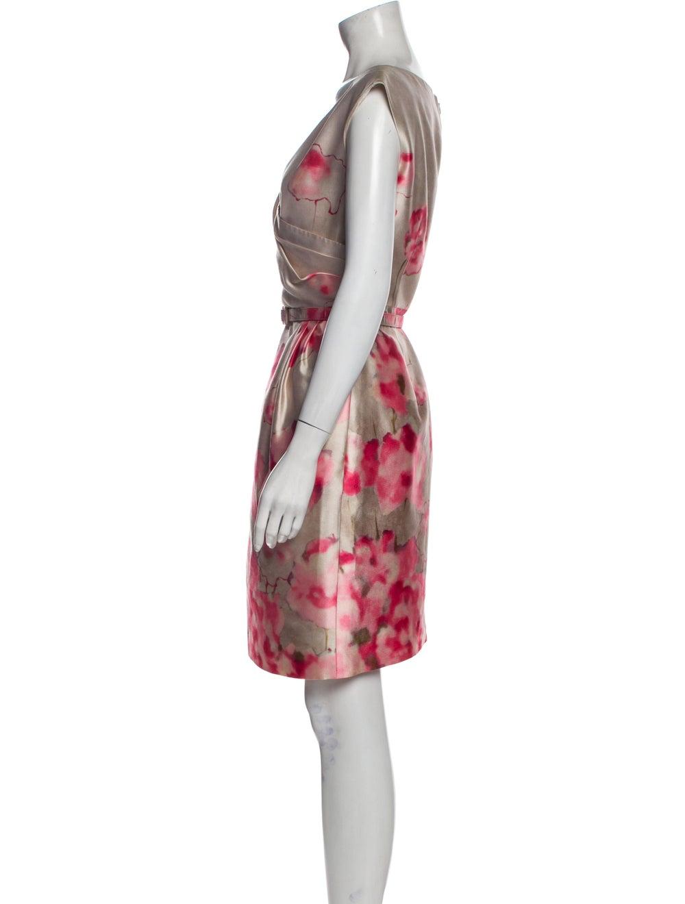 Valentino Silk Knee-Length Dress - image 2