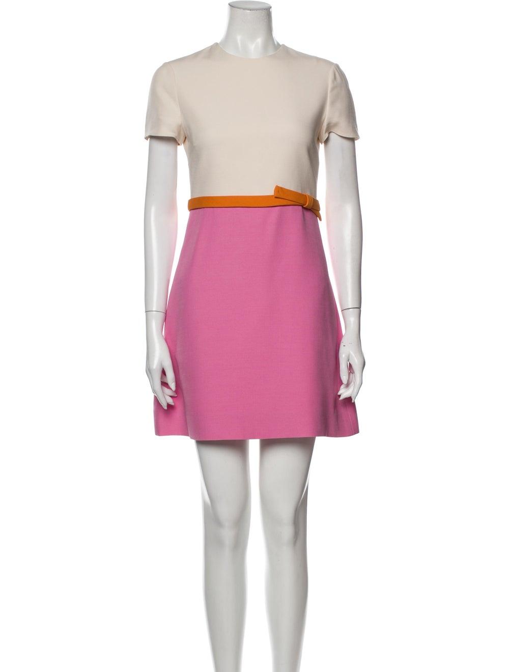Valentino Wool Mini Dress Wool - image 1