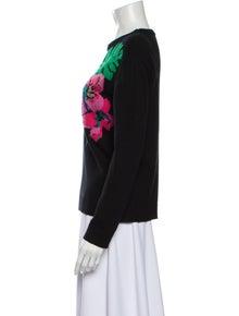 Valentino Cashmere Floral Print Sweater