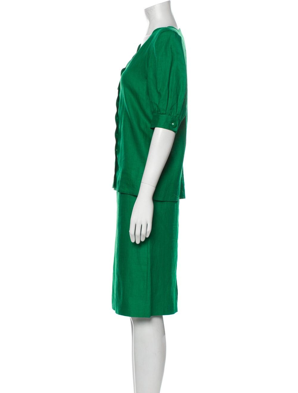 Valentino Linen Skirt Suit Green - image 2