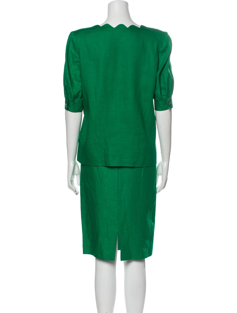 Valentino Linen Skirt Suit Green - image 3