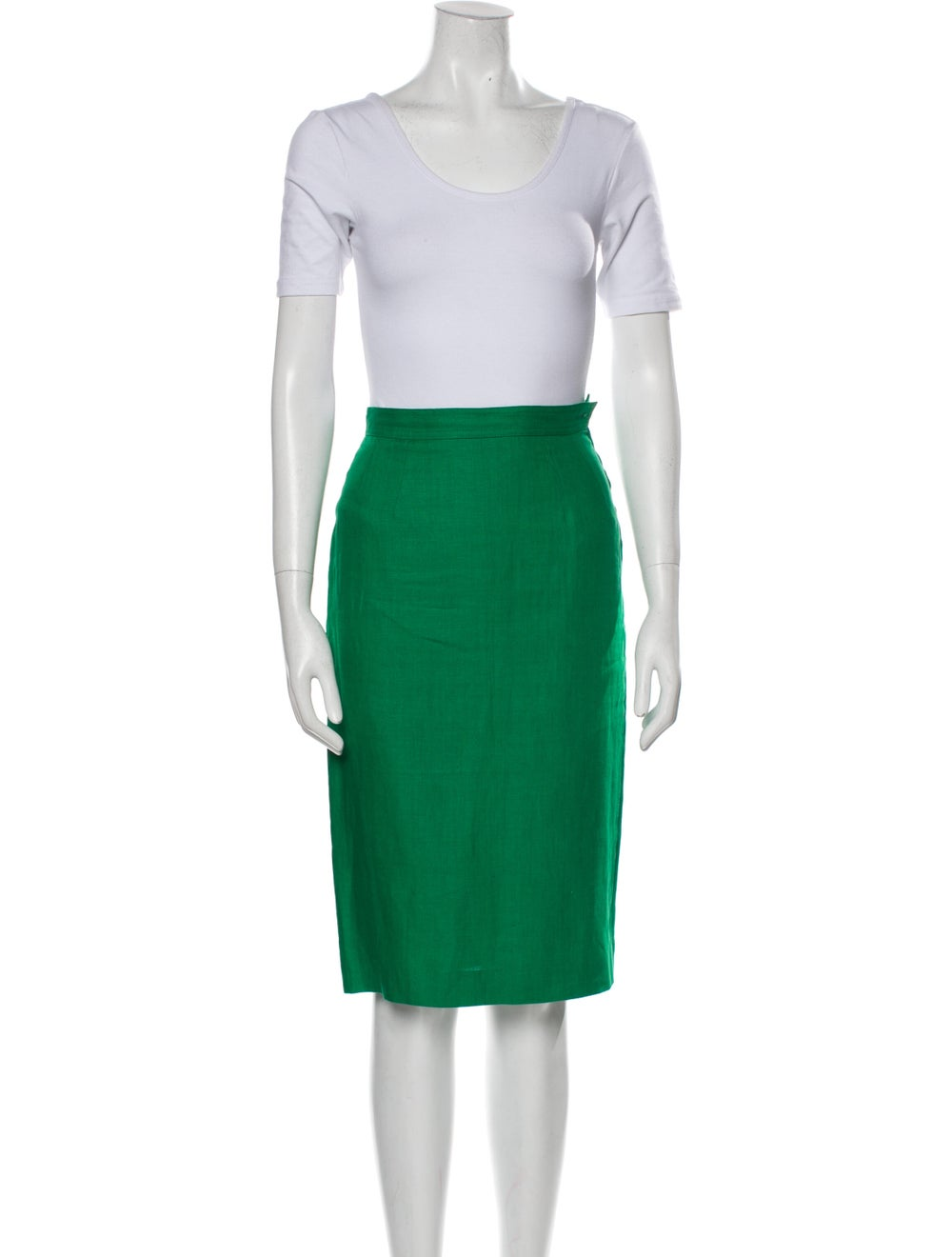 Valentino Linen Skirt Suit Green - image 4