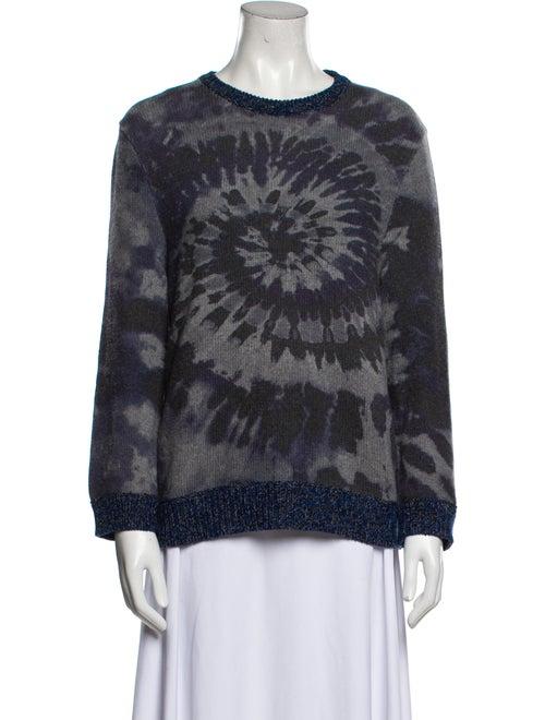 Valentino Virgin Wool Tie-Dye Print Sweater Wool - image 1