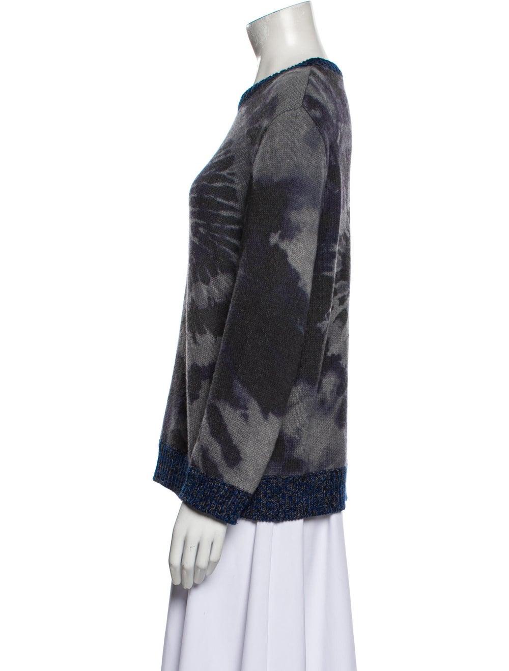 Valentino Virgin Wool Tie-Dye Print Sweater Wool - image 2