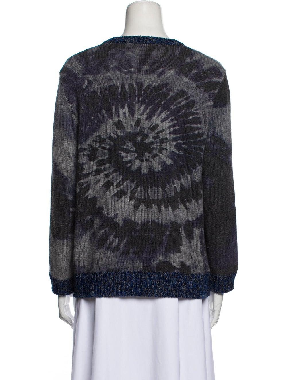 Valentino Virgin Wool Tie-Dye Print Sweater Wool - image 3