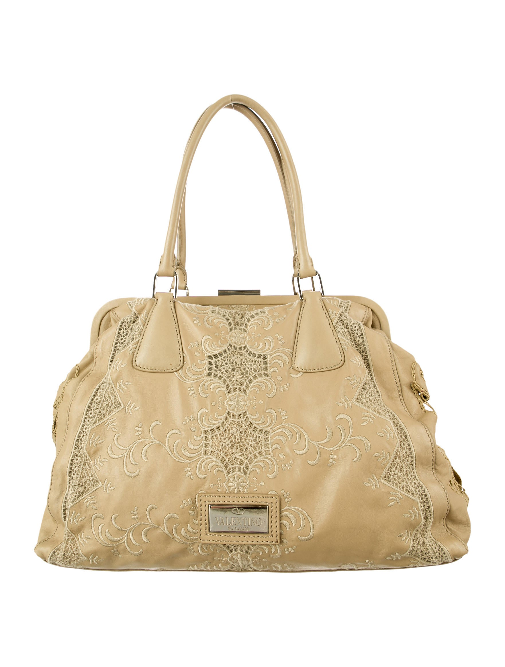 Valentino Lace Handle Bag Handbags VAL28456 The RealReal : VAL284561enlarged from www.therealreal.com size 1762 x 2324 jpeg 284kB
