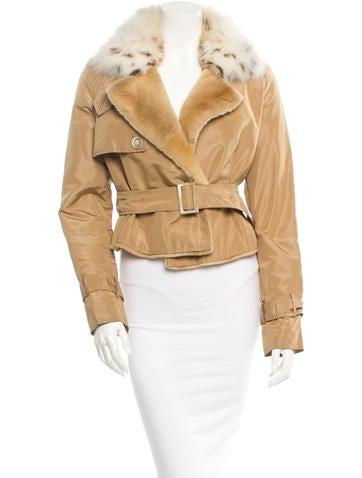 Valentino Fur-Trimmed Jacket None