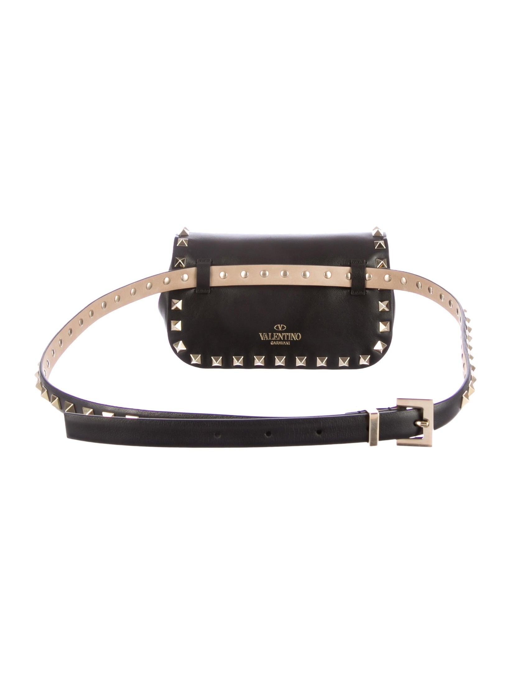 Valentino Rockstud Belt Bag Handbags Val37402 The