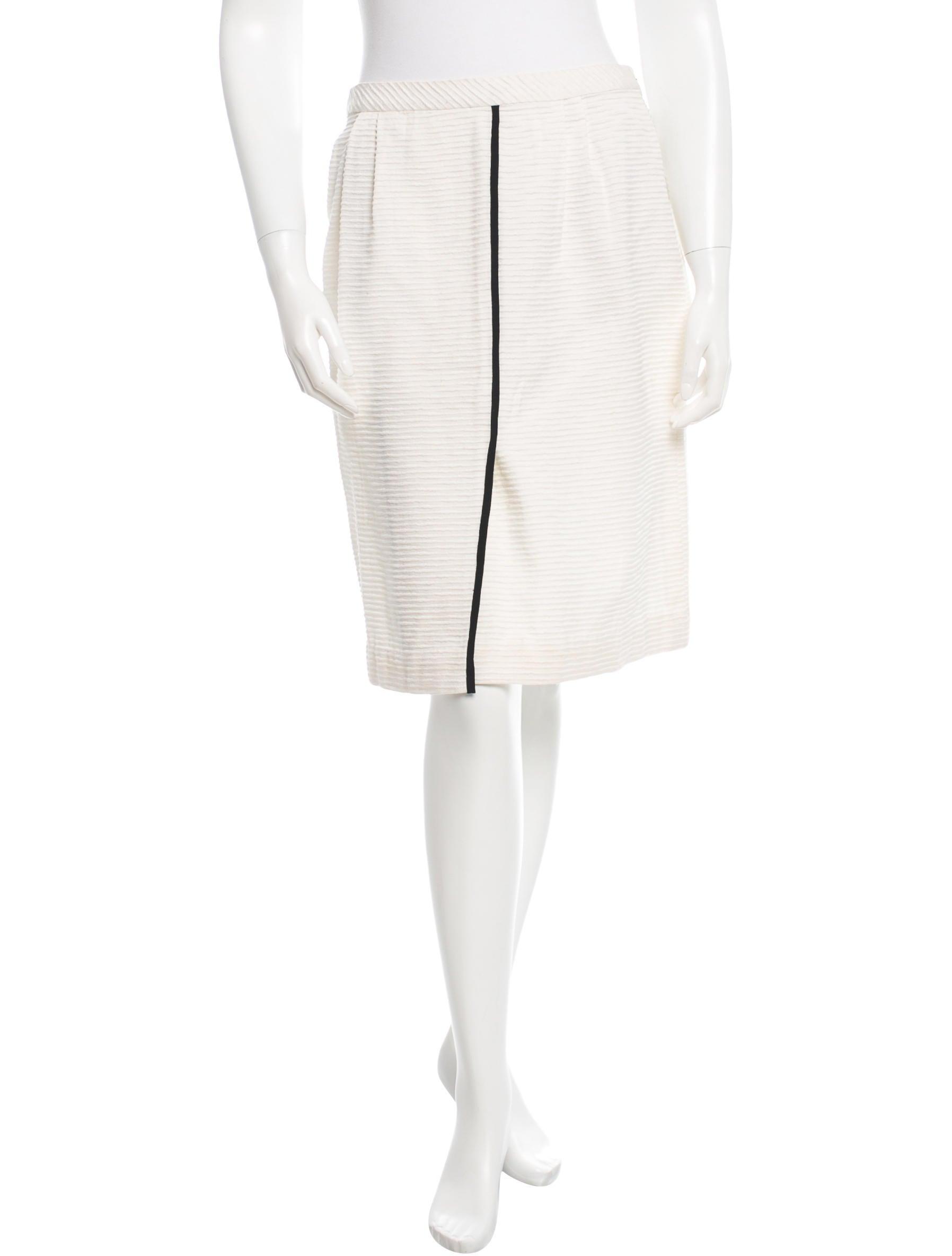 valentino rib knit knee length skirt clothing