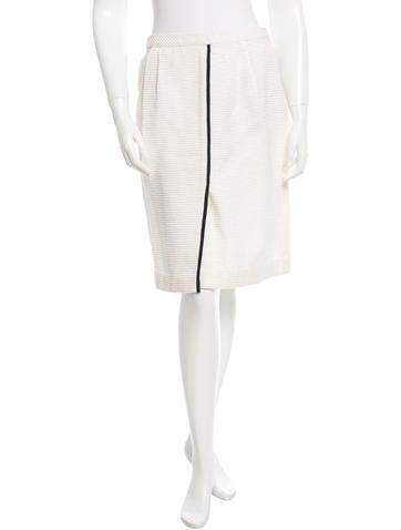 Valentino Rib Knit Knee -Length Skirt None