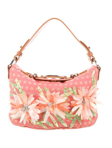 Floral Embellished Shoulder Bag