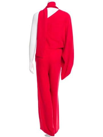One-Shoulder Silk Jumpsuit