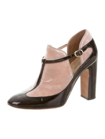 Patent Leather T-Strap Booties