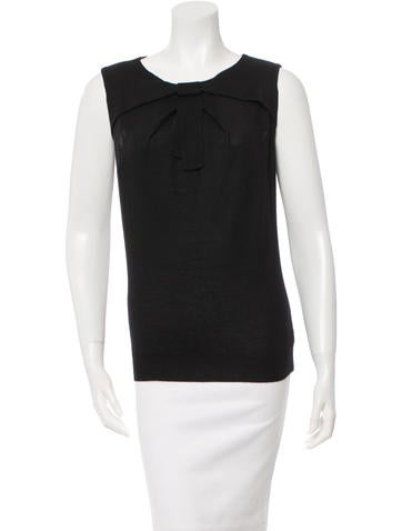 Valentino Sleeveless Cashmere-Blend Top w/ Tags None