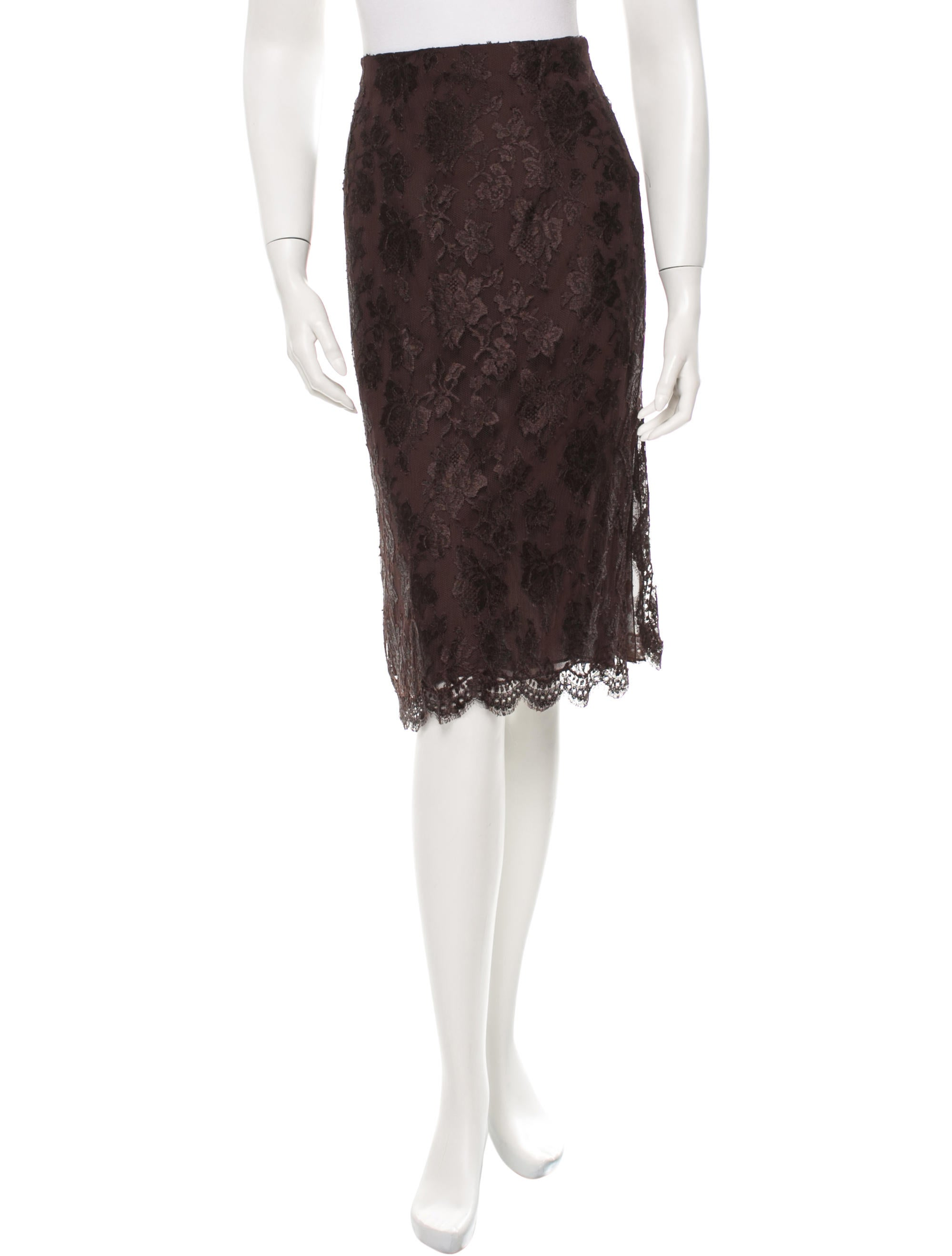 valentino lace pencil skirt clothing val40912 the