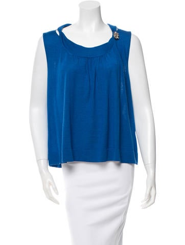 Valentino Embellished Knit Top w/ Tags None