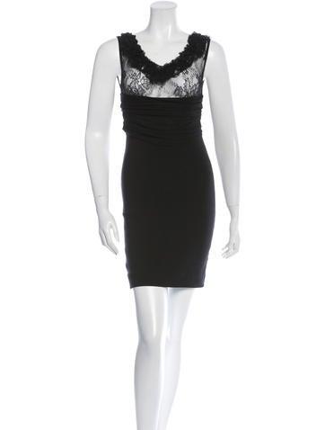Valentino Lace-Paneled Sheath Dress None
