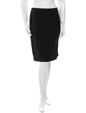 Valentino Embellished Wool Skirt None