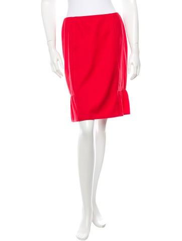 Valentino Virgin Wool Knee-Length Skirt None