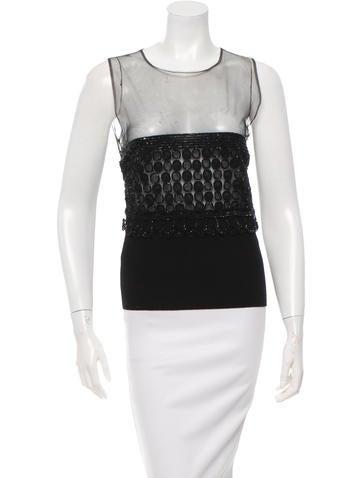 Valentino Sleeveless Embellished Top w/ Tags None